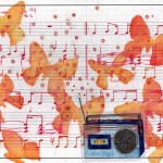 """Carnival"" de la serie Partituras 16X23 cms. Dibujo sobre papel 2011"