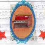 """""""Postales"""" (Basada en una pieza para piano de Víctor Trescolí) de la serie Partituras 16X23 cms. Dibujo sobre papel 2011"""