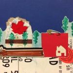 Sin título #1 De la serie Dibujos Canadienses. 2013. Técnica mixta sobre papel. 13,7X19cms