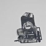 """Sin título. De la serie """"Dibujos migratorios"""" 2007-08. Lápiz sobre papel. 51x46 cms."""