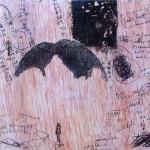 Sin título #2 De la serie Escenas cotidianas. 2013. Técnica mixta sobre madera. 19X30cm