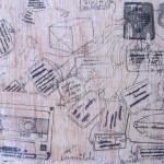 Sin título #3 De la serie Escenas cotidianas. 2013. Técnica mixta sobre madera. 19X30cm