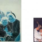 """Serie """"Doble álbum de familia (ubicuidad)"""" 60x81 cm. (pintura) y 10x15 (fotografía) Óleo sobre lienzo, fotografía digital. 2007"""