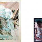 """Serie """"Doble álbum de familia (ubicuidad)"""" 60x81 cm. (pintura) y 10x15cm (fotografía) Óleo sobre lienzo, fotografía digital. 2007"""