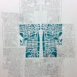 Sin título #3 - De la serie Prácticas de desplazamiento. 76X56cms. Tinta china y pintura acrílica. 2013