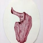 Sin título. 29x21 cm. Bolígrafo tinta-gel sobre papel de grabado. 2013