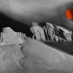 Desde el tragaluz del espacio el viento solar suena De la serie El velo del invierno 34x48,5 cm Impresión offset 2016
