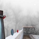 Esta blanca luz en el bosque al atardecer II De la serie El velo del invierno 34x48,5 cm Impresión offset 2016