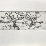 Paisaje en grabado de Julia r. Ortega Arte contemporáneo