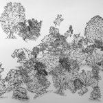Diseño de bosques en el espacio. Arte contemporáneo de Julia r. Ortega
