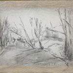 Naturaleza reflejada dibujo de paisaje de Julia r. Ortega